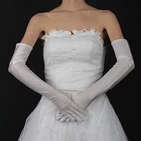 Satin Opera Length Bridal Gloves (More Colors Available)