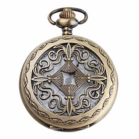 Women's White Alloy Analog Quartz Pocket Watch (Bronze)