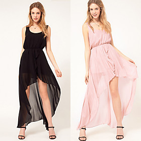 Chiffon Asymmetrical Ankle-length Dress