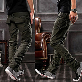 Solid Color Men's Casual Cotton Pants