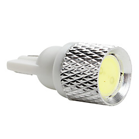 T10 1W 50LM LED White Light Bulb for Car (DC 12V)-Pair