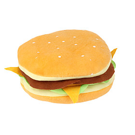 Hamburger Style Plush CD Case