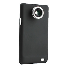 0.5x Wide-angle Fish Eye Thread Lens with Back Case for Samsung i9100