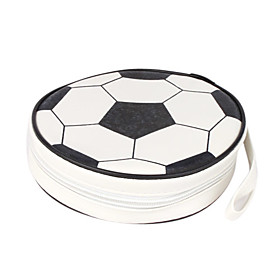 Football Design CD Case (For 24 CDs, White and Black)