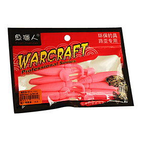 Soft Bait Slow Sinking Rubber Fishing Lure 6Pieces(Color Assorted)