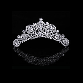 Luxurious Cubic Zirconia And Rhinestone Bridal Tiara