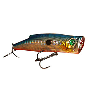 Hard Bait Popper Watersurface Plastic Fishing Lure 90MM 19.5G(1pc/Color Assorted)
