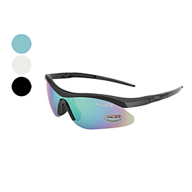 Men's Outdoor Sporting Black Frame Windproof Glasses (Assorted Colors)