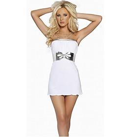 Где купить Сексуальное белое платье m3482A. пеньюар и чулки В