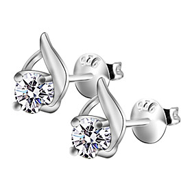 Fashion And Special Rhinestone Silver Plated Stud Earrings