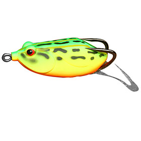 Snakehead Frog Water Surface Plastic Fishing Lure 60MM 14G(1pc/Color Assorted)