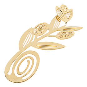 Elegant Golden Flower Style Bookmark