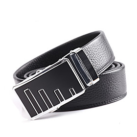 Men's Genuine Leather Automatic Buckle Belt