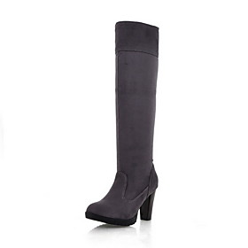 Suede Chunky Heel Closed Toe Knee High Boots Party / Evening Shoes (More Colors)
