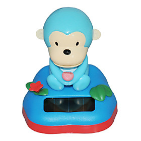 Monkeys Solar Car Ornaments (Random Colors)