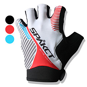 Stripe Pattern Half Finger Motorbikes Gloves with Wrist Protection (Assorted Colors)
