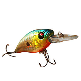 Hard Bait Crank 1.6 Meter Floating Plastic Fishing Lure 45MM 5.7G(1pc/Color Assorted)