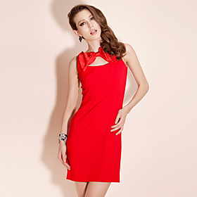 TS Bow Neckline Knit Sheath Dress (More Colors)