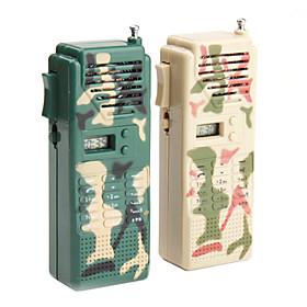 Military Radio Walkie Talkie Toy (1 Pair)