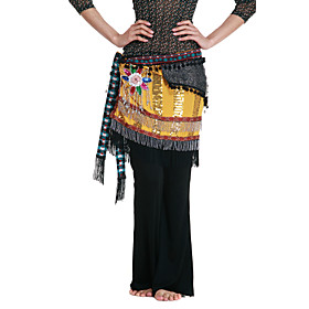 Dancewear Polyester With Appliques/Sequins Performance Belly Dance Belt For Ladies More Colors