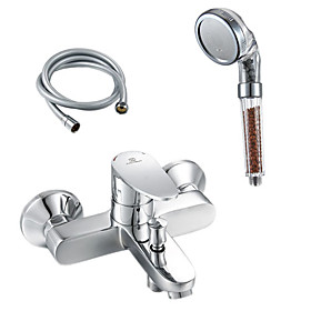 Contemporary Brass Tub Faucet with Anion Hand Shower