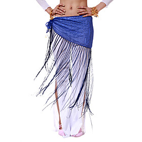 Dancewear Polyester With Sequins/Tassels Performance Belly Dance Belt For Ladies More Colors