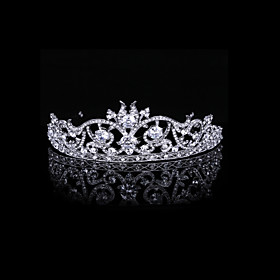 Luxurious Cubic Zirconia And Rhinestone Court Bridal Tiara