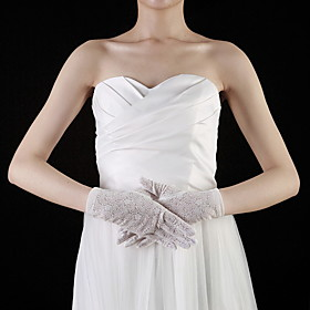 Lace Wrist Length Fingertips Bridal Gloves (More Colors)