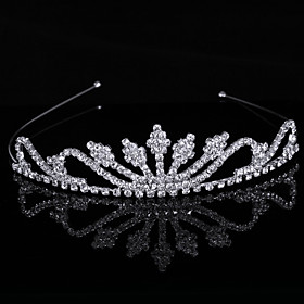 Gorgeous luxurious Cubic Zirconia In Alloy Tiara