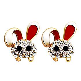 Cute Rabbit Gold Plated Alloy Earrings