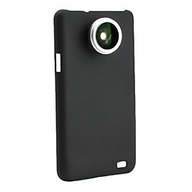 0.28x Fish Eye Thread Lens with Back Case for Samsung i9100