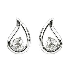 Waterdrop Pattern Zirconia Earrings (Assorted Colors)