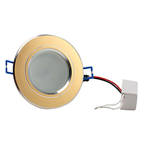 3.5W 5730 SMD 6-LED 300LM Warm White Ceiling Spot Light Bulb Gold (Sanded, Frosted Glass Cover)