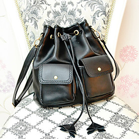 Stylish PU Shoulder Cross Body Bag(27cm 14cm 31cm)