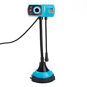8 Megapixel Flexible USB Webcam with Microphone (Blue)