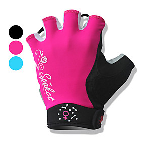 Half Finger Motorbikes Gloves with Wrist Protection for Women (Assorted Colors)