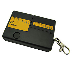 Mini RJ45 LAN Cable and RJ11 Phone Cable Tester with Key Chain