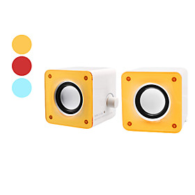 Mini Ultra-Bass Speakers for PC, MP3 Player and Mobile Cell Phones (3W x 2, Assorted Colors)