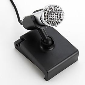 Mini Clip-On Desktop Microphone (3.5mm, Silver)