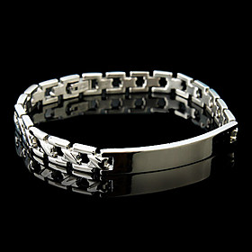 Men's Fashionable Stainless Steel Bracelet (Silver)