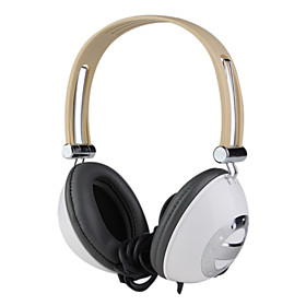 3.5mm High Fidelity Stereo Headband Headphone with Microphone -White