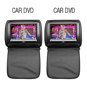 9 Inch Car Headrest DVD Player with TV, Games(1 Pair)