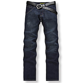 Trendy Men's Straight Jeans