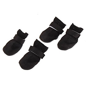 Breathable Mesh Style Velcro Boots for Dogs (XS-XL, Black)