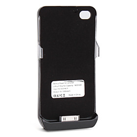 1800mAh Power Charger External Battery Backup Case for iPhone 4, 4S (Black)