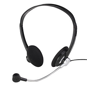 3.5mm Fashion Bass  Stereo Headband Headphone with Microphone -Black
