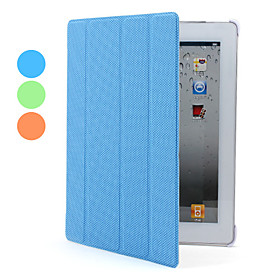 Auto Sleep PU Leather Case with Stand for The New iPad and iPad 2 (Assorted Colors)