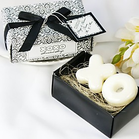 "Hugs Kisses From Mr. Mrs."" Scented Soap Wedding Favor (Set of 2 Pieces)"