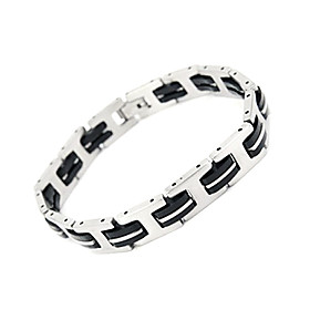 Fashionable Silica Gel and Titanium Steel Bracelet