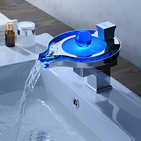 Sprinkle by Lightinthebox - Color Changing LED Waterfall Bathroom Sink Faucet (Unique Design)